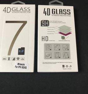 4D стекло iPhone 6 6S 7 7+ 8 8+ X Black White