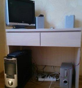 Компьютер, монитор, звук.