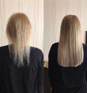 Наращивание волос , капсуляция