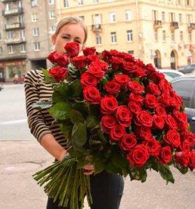 Доставка цветов, 51 роза
