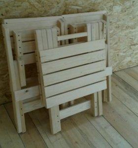 Складной стол с 4- мя стульями