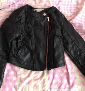 Модная куртка для девочки 5-6 лет. H&M 5-6 лет