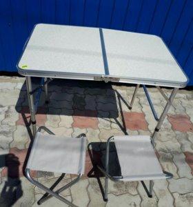 Стол складной со стульями на природу