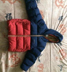 Тёплая детская куртка 98-104 размер