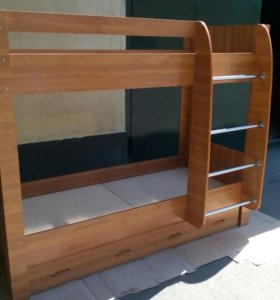 Кровать 2-х ярусная с ящиками