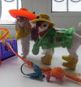 Игрушки собака и кот