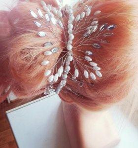 Ободок для волос ручной работы