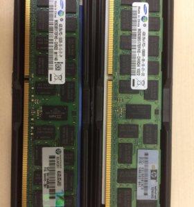 Серверная память Samsung DDR3 4G REG ECC PC3-10600