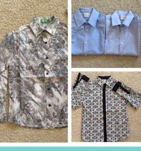 Рубашки дет 136-140 фирменные