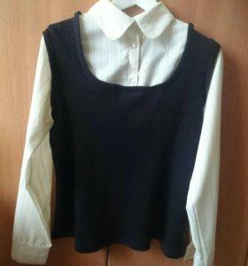 Стильная рубашка 2 в 1