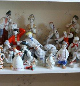советские фарфоровые статуэтки люли