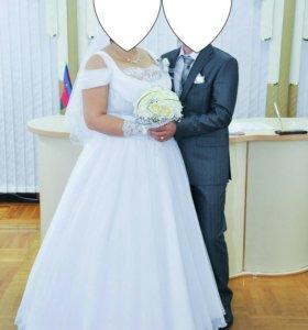 Свадебное платье р-р корсета 54-56
