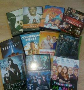 Диски DVD, около 200 штук. Цена за все!!!