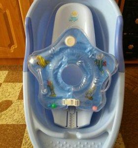 Ванночка, горка для купания, круг музыкальный