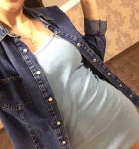Джинсовая рубашка размер М(44)