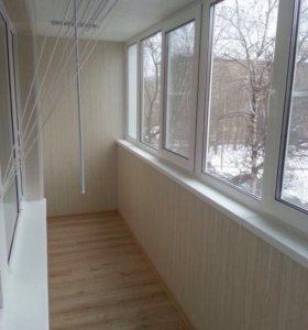 Балконы окна пвх жалюзи