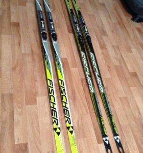 Лыжи беговые FISCHER. 2 пары. Без креплений