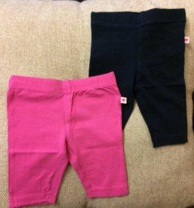 Детская одежда-леггинсы короткие р 68-74