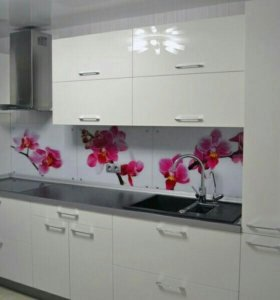 Кухня с фасадом из пластика Модерн 002