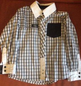Рубашка для мальчика на рост 116