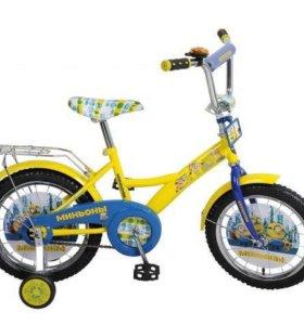 Новый велосипед 16-й диаметр с Миньонами