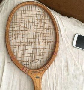 Винтажная теннисная  ракетка