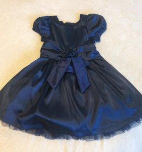 Детское синее платье