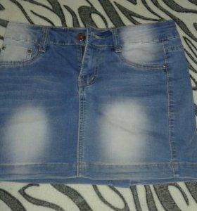 Юбка джинсовая.новая