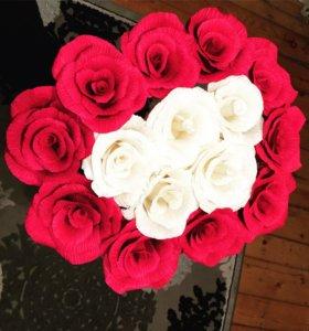 Цветы из гофра бумаги