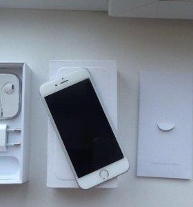 iPhone 6 16гб цвет silver, с заводской пленкой