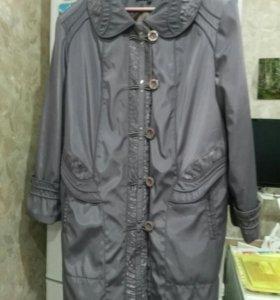 Куртка женская удлененная р.56