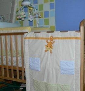 Кроватка Papaloni с матрасом