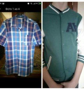 Бомбер Zara и рубашка Gee Jay