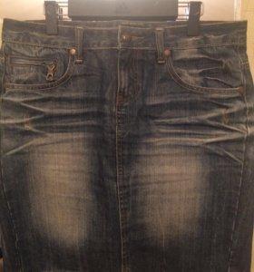Юбка джинсовая 48