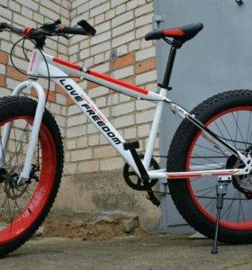 """Fatbike Фэтбайк велосипед на шинах 26""""*4"""" новый"""