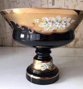 Кобальт ваза с золотом