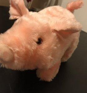 Игрушка свинка hamleys