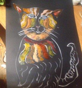 Картина необычный кот