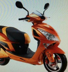 Электрический скутер мотоцикл