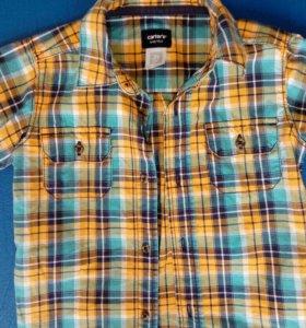 Брендовая рубашка Carter's на лето р.92-98
