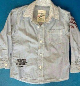 Рубашечка на маленького модника! 92-9