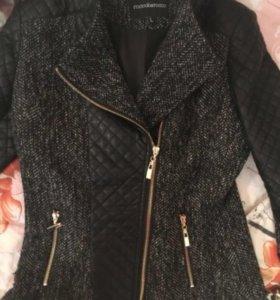 Куртка с кожаными вставками кожаная