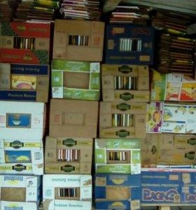 Банановые коробки(новые) один раз из под бананов