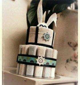 """Торт""""морячок"""".Подарок."""