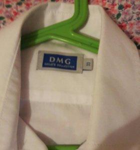 Рубашка белая рост 134 _140