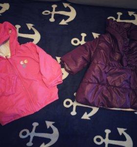 2 куртки на девочку