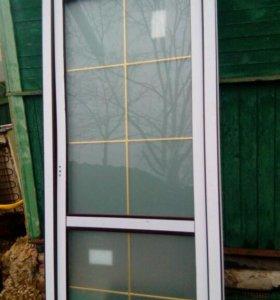 Дверь пластиковая,ламинированая