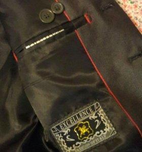 Пиджак+жилетка школьные. Рост 116-122