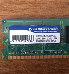 Озу DDR-2 Silicon Power 1GB PC2-6400 800MHz