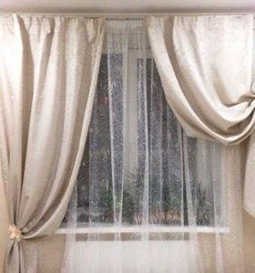 Пошив штор на заказ: тюль+шторы
